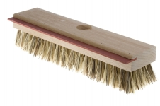 Deck brush with squeegee for smaller area
