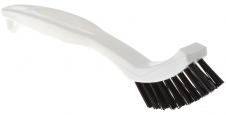 Floor brush for grout and crevice