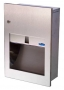 Recessed towel dispenser